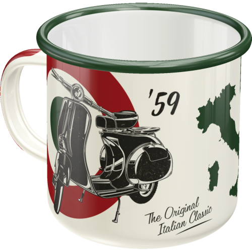 Emaille-Becher Vespa - The Italian Classic
