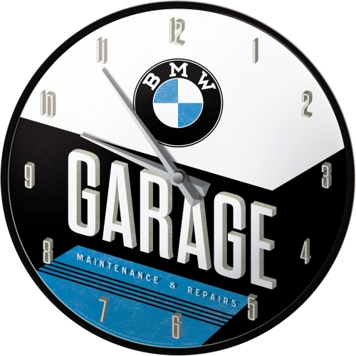 Wanduhr BMW - Garage
